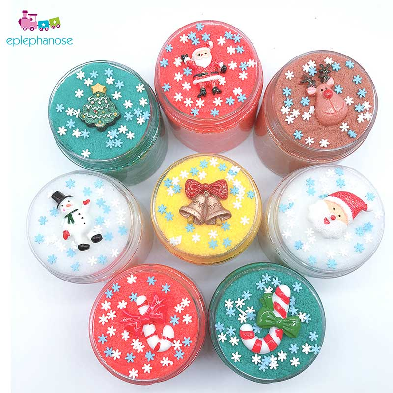 Christmas Slime.Us 0 49 20 Off Cartoon Santa Claus Elk Fluffy Slime Accessories Christmas Slime Supplies Soft Clay Slime Toys Kids Girls Gift Slime Wholesale In