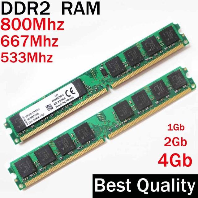 1G 2G 4Gb DDR2 800 667 533 Mhz memory RAM DDR2 2Gb 800Mhz / 1 2 4 gb ddr2 4gb 800 ddr 2 PC2-6400 memoria Ddr2 RAM memory