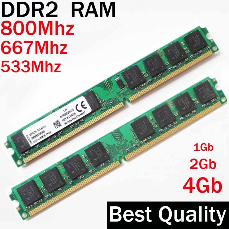 RAM DDR2 2Gb 1Gb 4 Gb DDR2 800 667 533 Mhz / Para AMD - para Intel memoria 2gb memória RAM DDR2 single / DDR 2 Memória RAM PC2 - 6400 5300