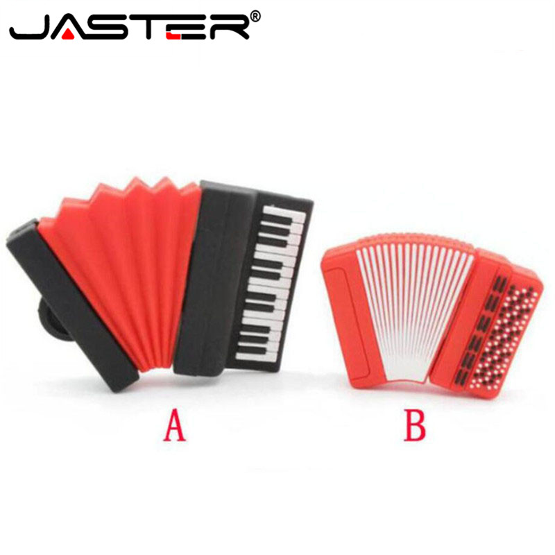 JASTER 100% Real Capacity Accordion Model Usb Flash Drives Piano Memory Stick Pendrives 8gb 16gb 32gb Musical Instrument Gift