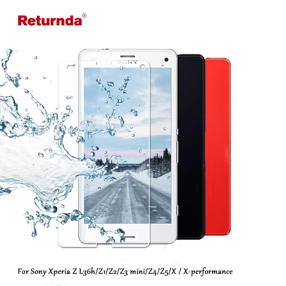 Guard Angel Sony Xperia Z1 Mini Compact Tempered Glass Screen Anti Gores Kaca For Z L36h Z2 Z3 Z4 Z5 X