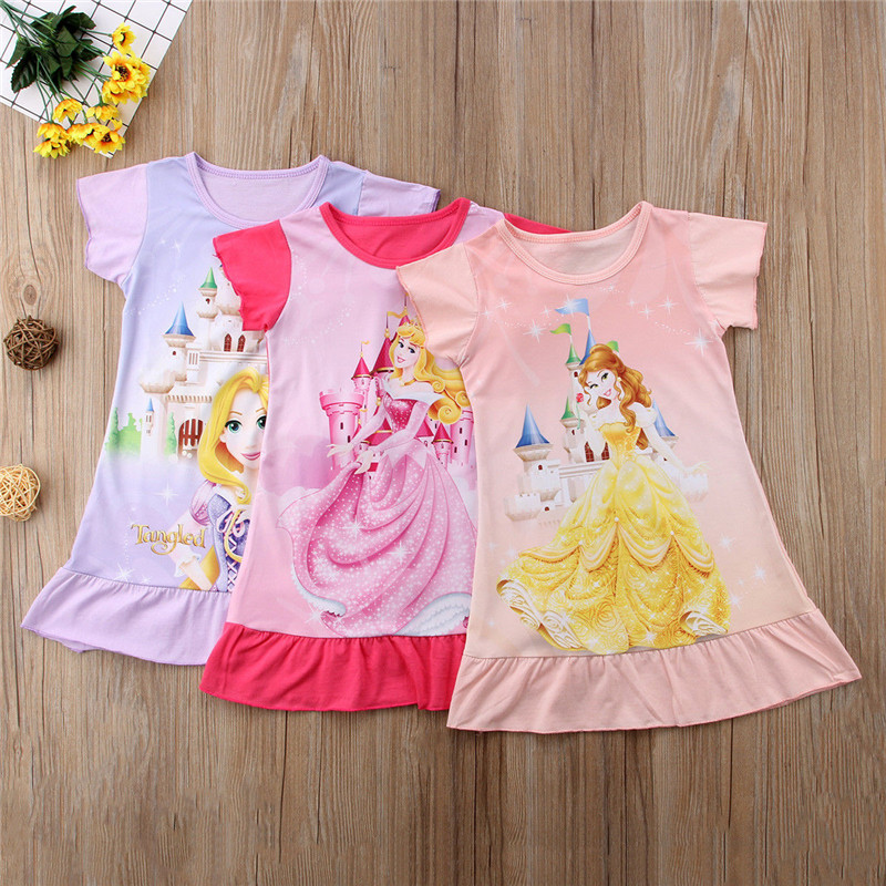 Detail Feedback Questions About Cute Cartoon Birthday Dress Toddlers Girl Kids Princess Cotton Casual Party Fancy Aged 1 6Y On Aliexpress