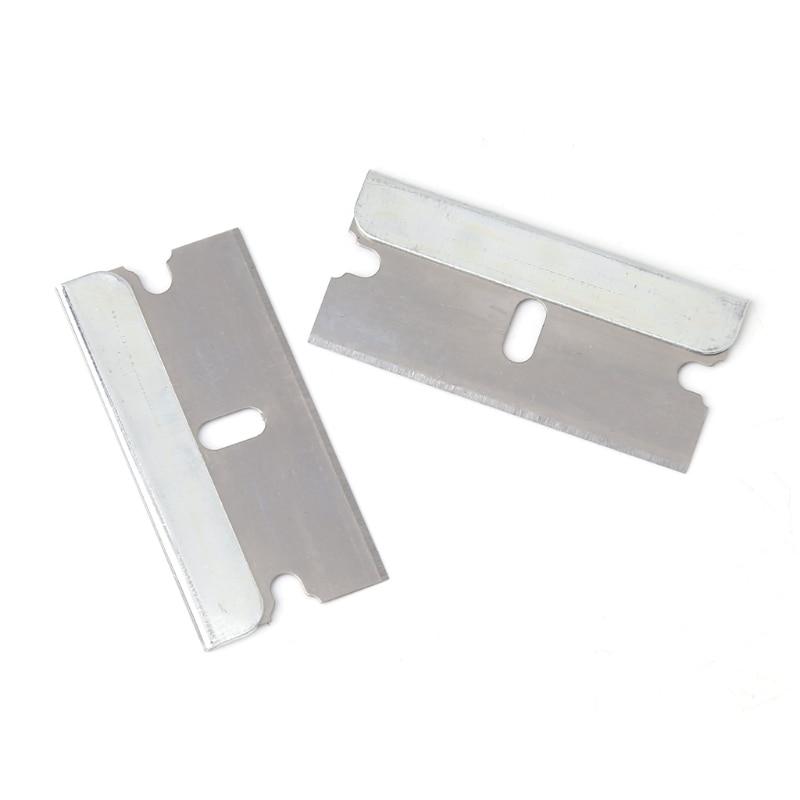 5Pcs Ceramic Glass Oven Window Tinting Razor Scraper Stainless Steel 1.57''Blade