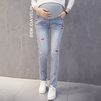 Lip Pregnant Leggings Maternity Support Pants for pregnant women maternity skinny trousers pregnancy capris gestante pantalon
