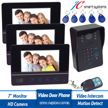 7 inch Color LCD Display Video font b Door b font Phone Enter Intercom Doorbell Card