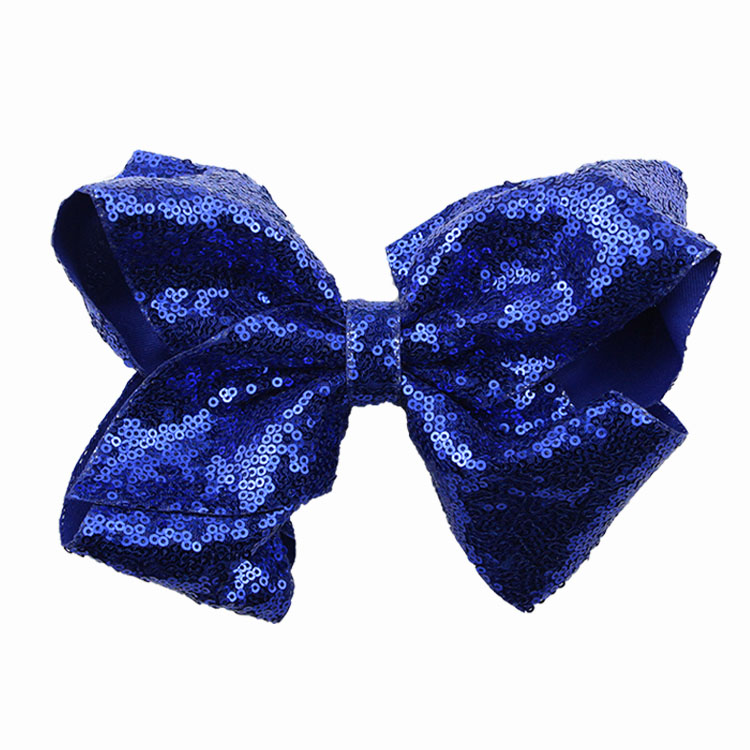 8 inch Jumbo Sequin Rainbow Bow With Hair Clip For Girls Kids Handmade Boutique Knot Jumbo Hair Bow Hairgrips Hair Accessories (13)