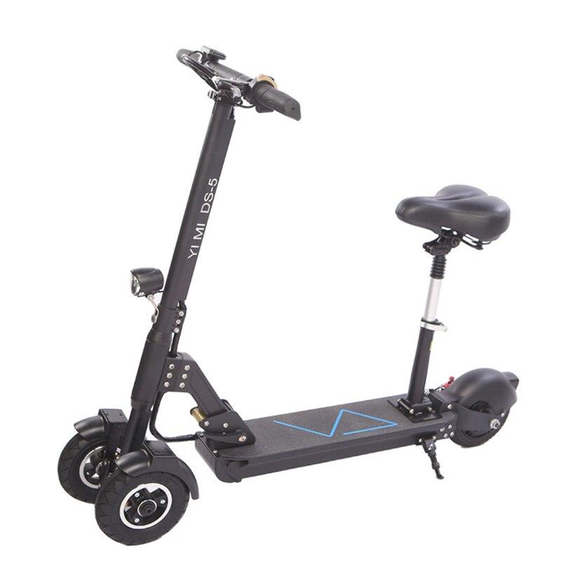 De 3 ruedas Scooter eléctrico con asiento para Scooters eléctricos 8 pulgadas 400 W 36 V/500 W 48 V plegable monopatín eléctrico para adultos