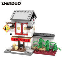 2017 Kazi 4IN1 Chinese Culture Mini Street View China Street Ancient Architecture Model 2 in 1 kids Building Blocks Toys