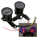 Universal Motorcycle Speedometer Odometer Gauge 0~160km/h 13000RPM LED Backlight Tachometer Set for Honda Kawasaki Yamaha Suzuki