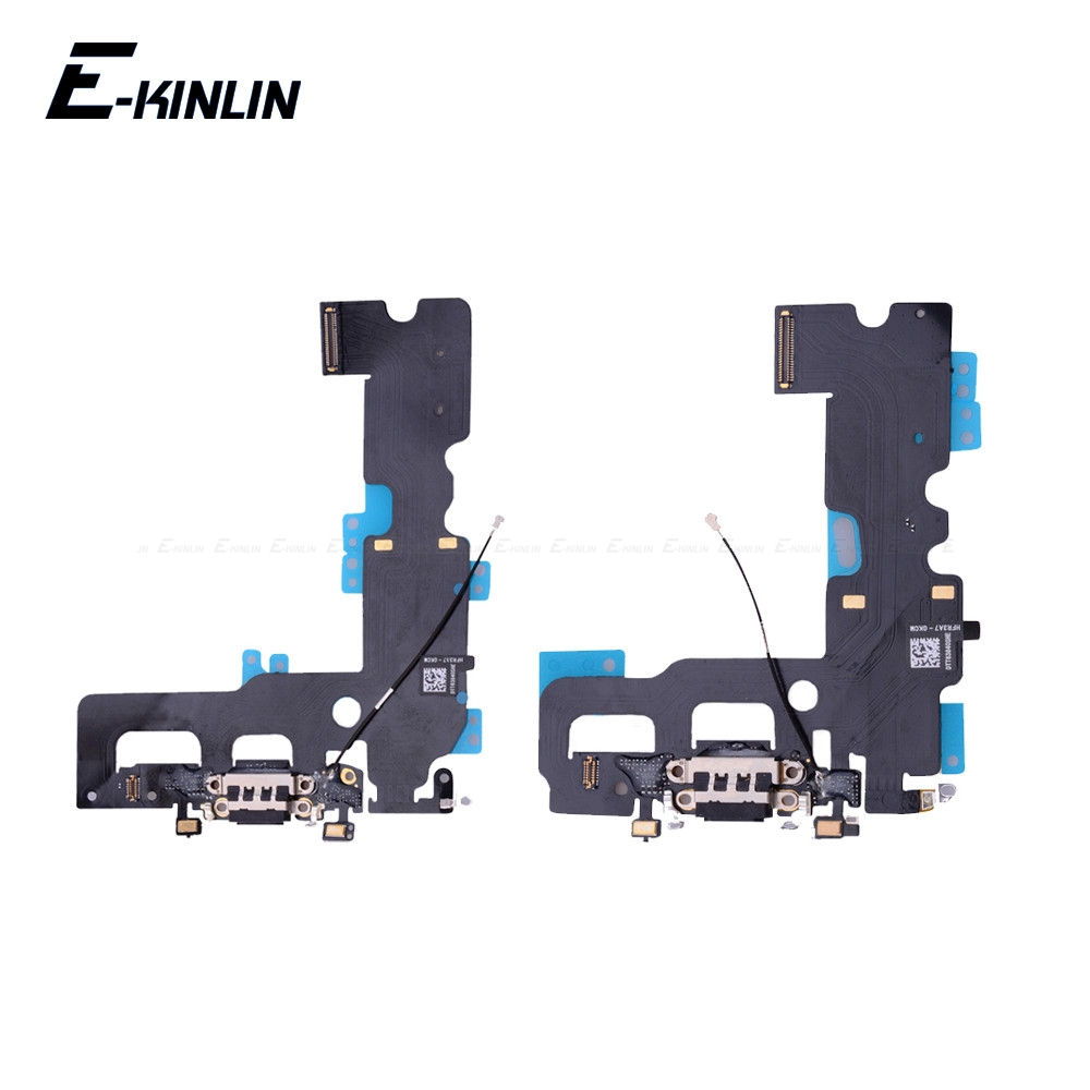 Bottom Charger Charging Port Dock USB Connector Data Headphone Jack Flex Ribbon Cable For IPhone 7 8 Plus X