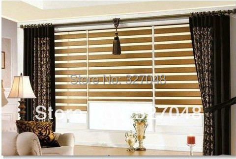 FREE SHIPPING Popular Zebra Blinds/hanging Screen Room Divide/double Layer  Roller Blinds