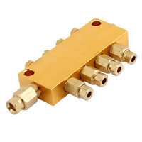 4 Maneiras Distribuidor De Óleo Ajustável Válvula Manifold 6mm de Entrada de 4mm Para Fora Frete grátis
