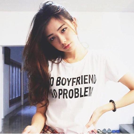 no boyfriend no problem t shirt tumblr shirt hipster ...
