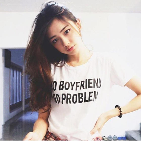 c7d5d2fa7e no boyfriend no problem t shirt tumblr shirt hipster, grunge instagram t  shirt slogan aesthetic pinterest fashion girls tops -in T-Shirts from  Women's ...