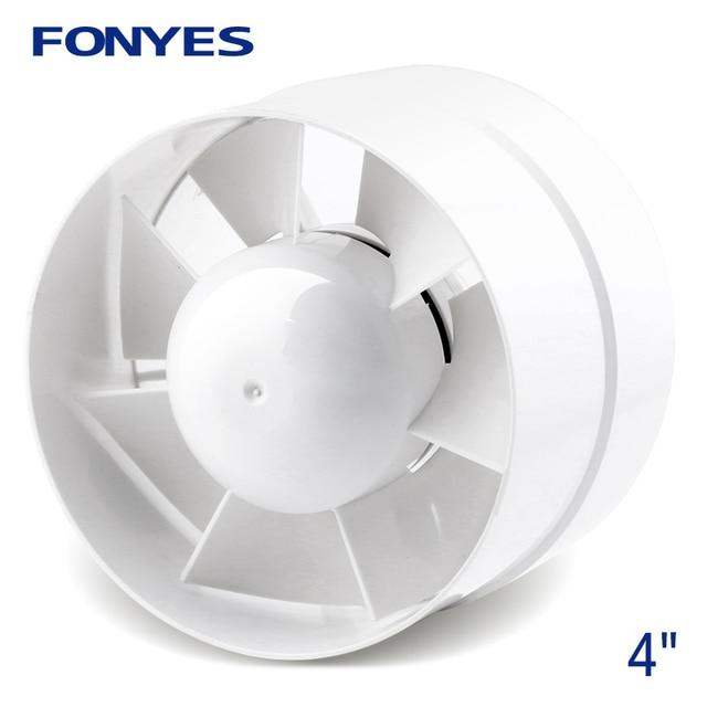 4 Inch Inline Duct Fan Mini Plastic Booster Exhaust Fan Ceiling Vent Pipe  Ventilator Bathroom Fan