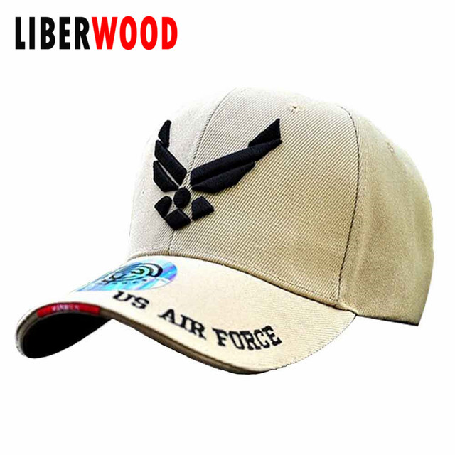 1a99339535c U.S. AIR FORCE hat cap embroidered USAF army Official WINGS Logo Baseball cap  Veteran III Scrambled Eggs Hat USAF Cap