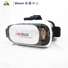 HOT Google cardboard VR BOX II 2.0 Version VR Virtual Reality 3D Glasses For 3.5 – 6.0 inch Smartphone+Bluetooth Controller 1.0