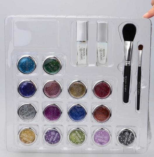 где купить 15 Colors Temporary Glitter Tattoo Kit with Brushes, Glue, Stencil по лучшей цене
