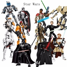 Creative Star Wars build action character model captain Phasma   Kenobi General Grievous children's building blocks toy gifts цена