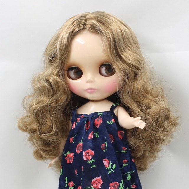 Factory Neo Blythe Doll Dirty Blonde Center Part Hair Plump Body 30cm