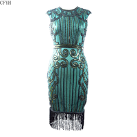 Hot Sell 1920s Style Inspired Charleston Sequin Tassel Cocktail Flapper Dress Vintage Great Gatsby Party Dress Plus Size S XXXL