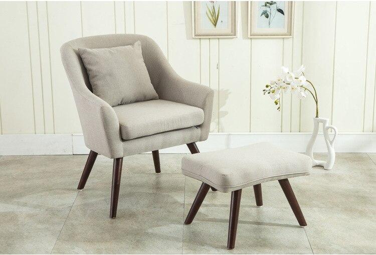 Best Mid Century Moderne Design Sessel Stuhl Hocker Wohnzimmer Mbel Holz  Beine Bedoorm Accent Stuhl Mit Hocker With Moderner Sessel Mit Hocker