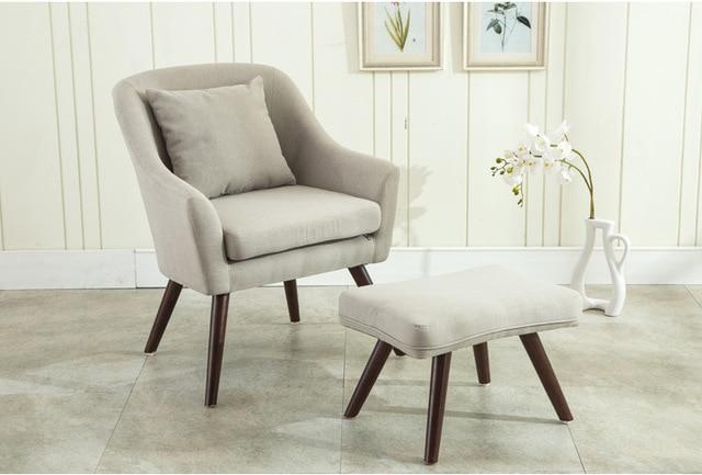 Mid Century Moderne Design Sessel Stuhl Hocker Wohnzimmer Möbel Holz Beine  Bedoorm Accent Stuhl Mit Hocker