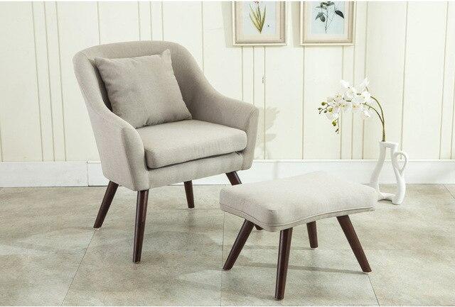 Design Woonkamer Meubels : Mid eeuw moderne ontwerp leunstoel voetenbank woonkamer meubels