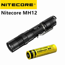 NITECORE 1000 Lumen MH12 MH12W XM-L2 U2 LED rechargeable flashlight with battery portable torch 18650 battery free shipping