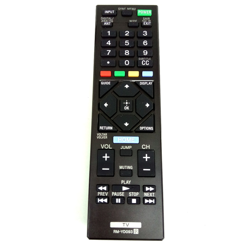 Original for Sony LCD TV Remote Control RM-YD093 for KDL-40W600D KDL-32R435B KDL-32R425B KDL-32R429B KDL-40R455A KDL-40R485B chunghop rm l7 multifunctional learning remote control silver
