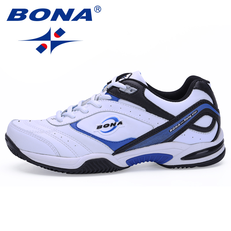 BONA New Classics Style Men Tennis Shoes Athletic Sneakers For Men Orginal Professional Sport Table Tennis Shoes Free Shipping men women unisex badminton table tennis shoes anti slipper soft sneakers professional tennis sport training shoes free shipping