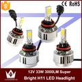 Night Lord 2015 New Design 2led A233 12V 33W 3000LM 3000K 6000K H11 LED Headlight H11 Auto COB LED Headlight all in one
