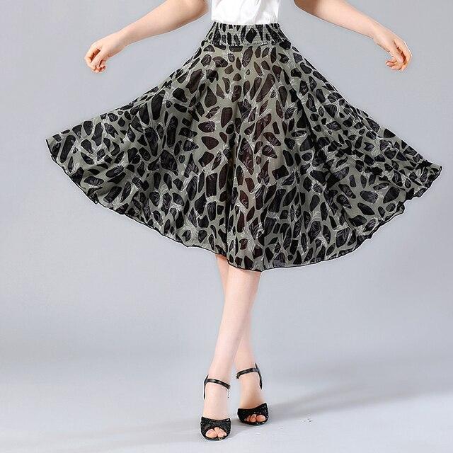 22c90d7215487 US $8.31 42% OFF|Aliexpress.com : Buy 2019 Summer Women Skirt Knee Length  Floral Print High Waist Elastic Pleated Skirt Saia Midi Faldas Casual A  line ...