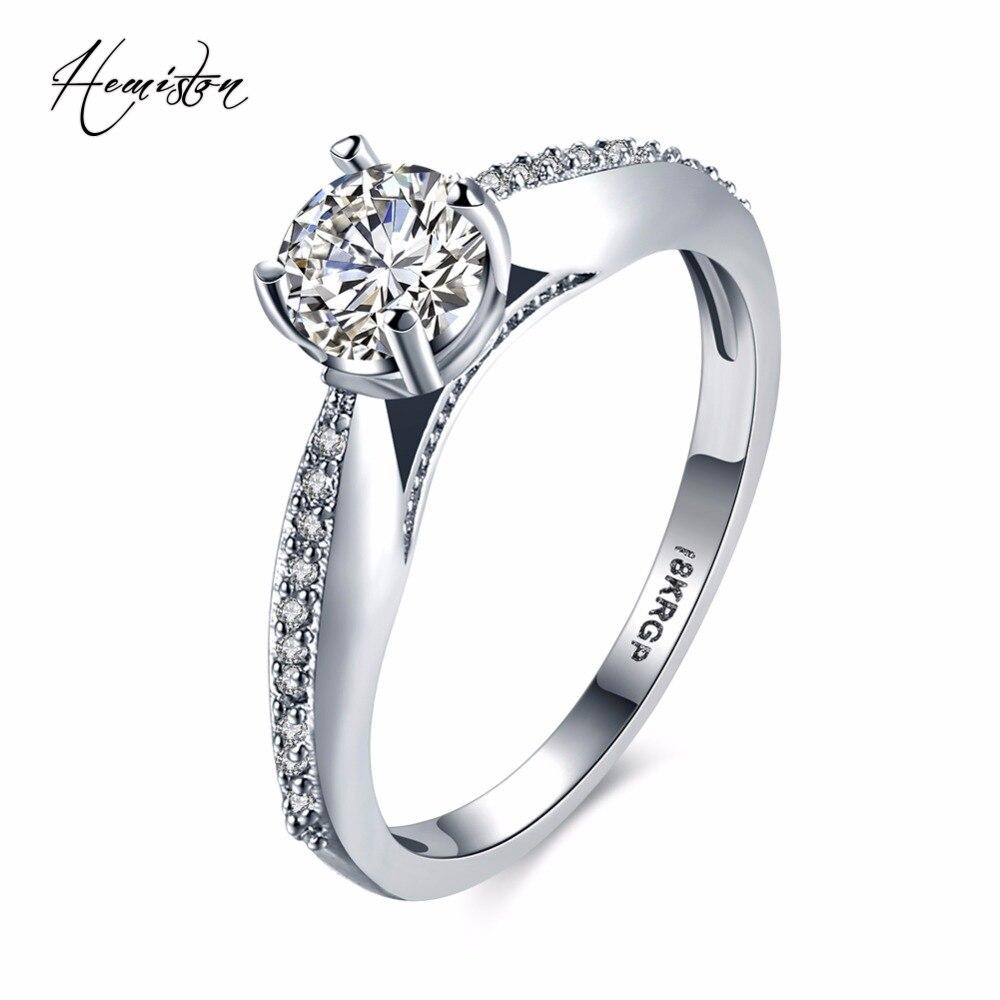 f9d29591bf49 Moda mujeres anillo Color plateado con princesa Cut Cubic Zirconia anillo  de bodas de moda joyería Bijoux TF R352