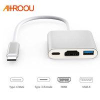AHHROOU New USB 3 1 Type C To HDMI USB 3 0 USB C HUB Adapter
