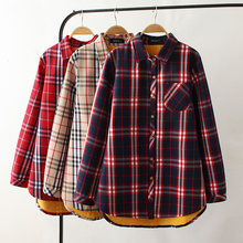 91e4b27c27871 oversized plus size big New 2018 Autumn Winter Women solid Shirt Cotton  White Blouses Style Clothing