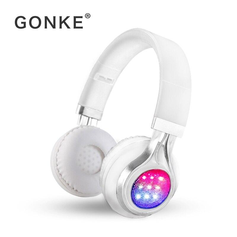 GONKE K8 Bluetooth casque sur l'oreille sans fil pliable casque avec micro BT 4.1 FM Radio carte SD casque