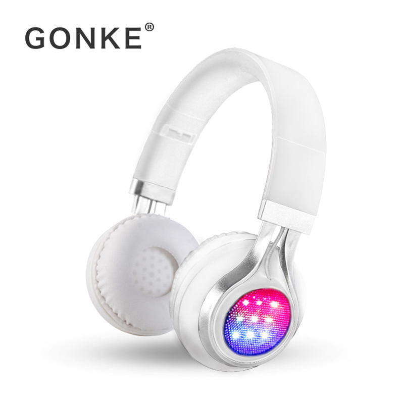 GONKE K8 Bluetooth Headphone Over Ear Wireless Foldable Headphones with Mic BT 4.1 FM Radio SD Card Headset