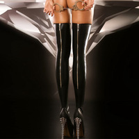 الساخنة جوارب سوداء بو الجلود عودة زيبر جودة عالية المرأة الجورب جديد مثير سيدة العصرية الساق ارتداء مع البقاء حتى سيليكون