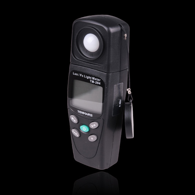 Taiwan TENMARS LUX/FC light meter Digital Luxmeter 200,000 Lux Light Meter Test Spectra Auto Range TM-204 bside elm02 professional digital light meter lux fc light meter