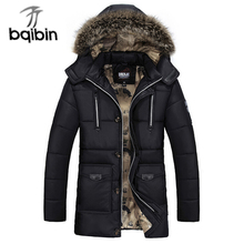 2017 Brand Clothing Winter Parka Men Fashion Winter Warm Hooded Thicken Coats Mens Casual Fur Collar Military Jackets Parkas