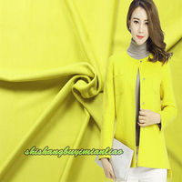 High Grade Yellow Cashmere Wool Fabric Along The Autumn And Winter It Coat Coat Dress Fabric