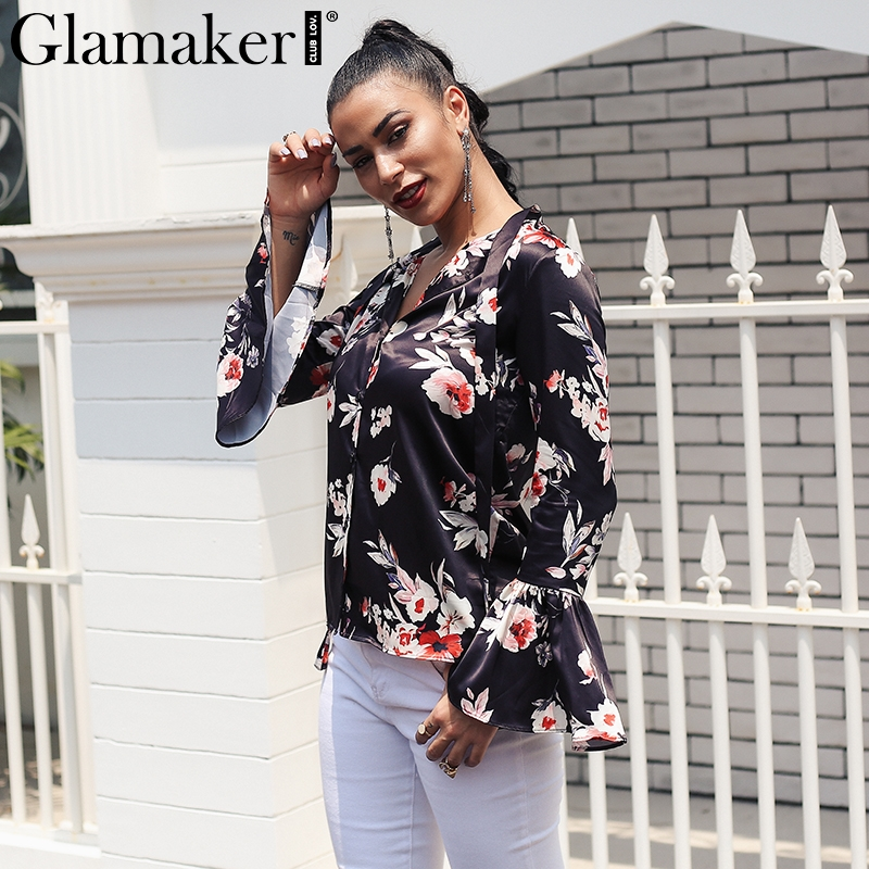 2018 New V-neck Casual Short-sleeved Button Combination Drills Female Siamese Shirt Black White Plus Size Women's Clothing