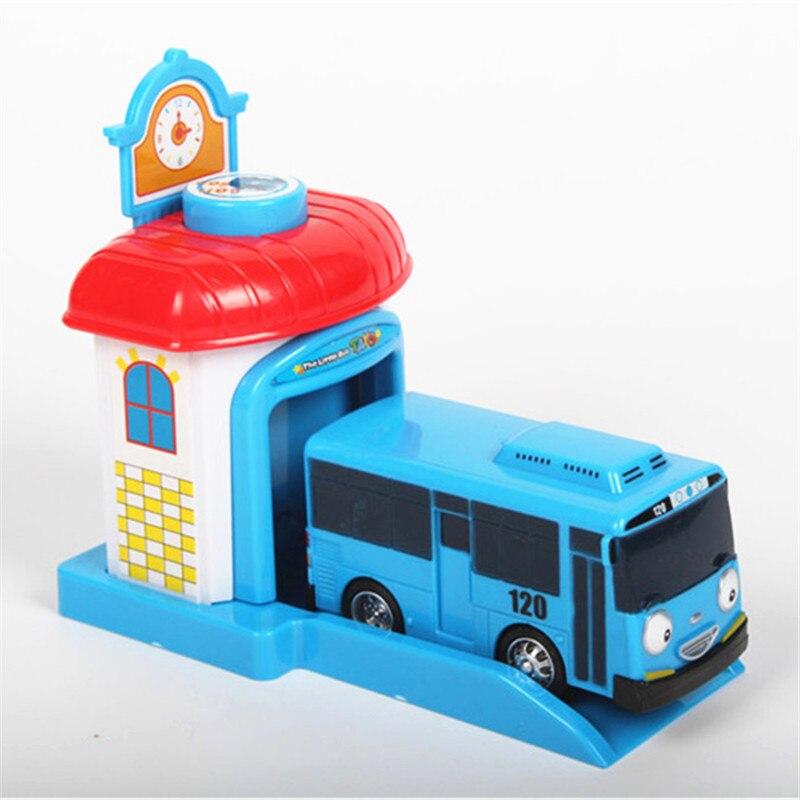 Coreano Tayo o Pequeno Ônibus Dos Desenhos Animados One Piece Araba Oyuncak Garagem Brinquedos do carro Modelo De Plástico Mini Ônibus Tayo Brinquedo Do Bebê para Crianças