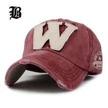 FLB Cotton Embroidery Letter W Baseball Cap Snapback Caps Bone casquette Hat Distressed Wearing Fitted