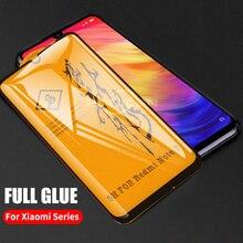 Xiaomi pocophone F1 mi 9 9t 8 A2 liteミックス 3 redmi注 7 6 5 K20 プロスクリーンプロテクターフィルム 6Dフル接着剤カバー強化ガラス