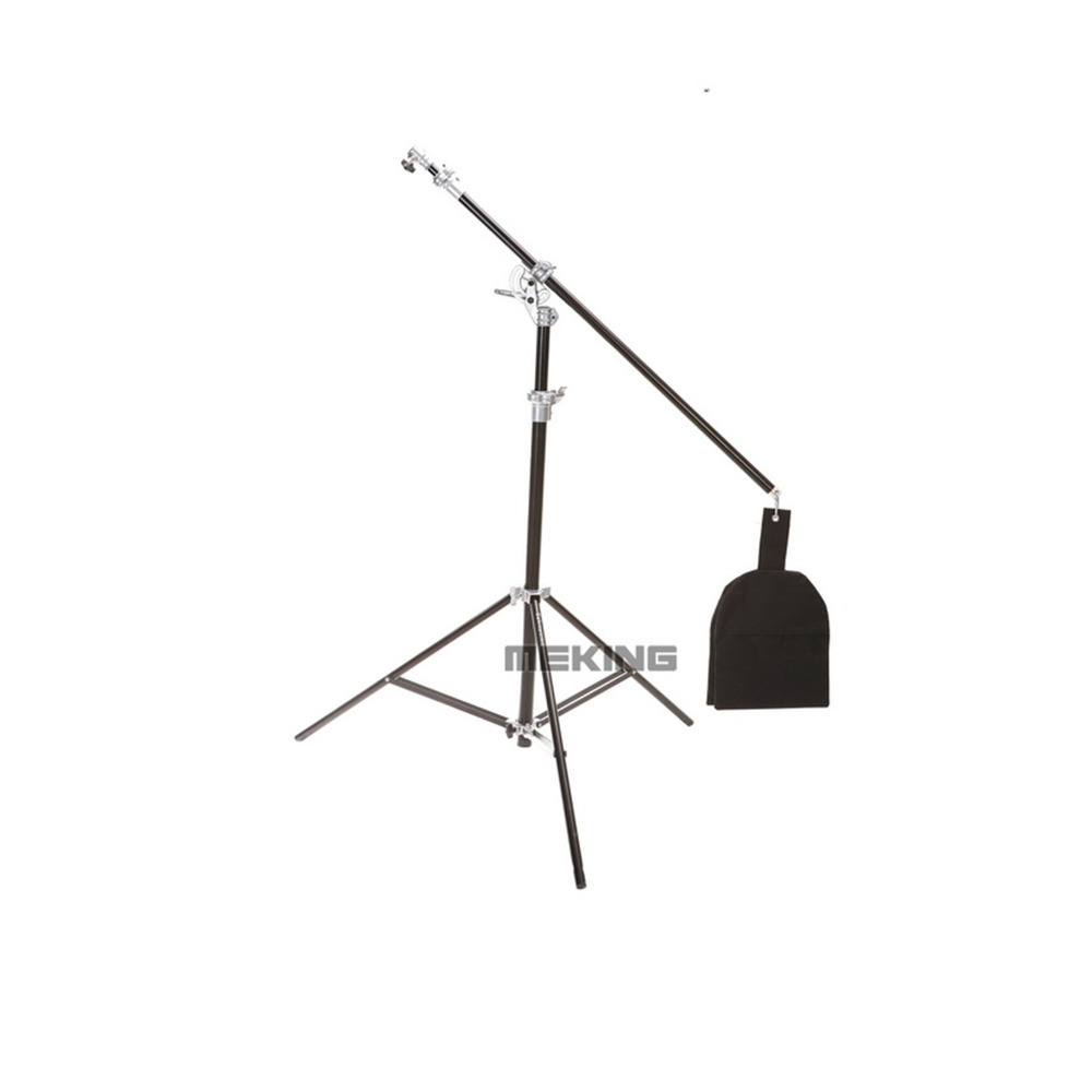 Selens 400cm/13ft Air-Cushioned Light Stand Boom stands SGL-400ZB Double Duty Multi Function with Sand Bag Extension Pole Tube jb300 pro premium grade light stand 2 8m stand with air cushion professional air cushioned light stand no00dc