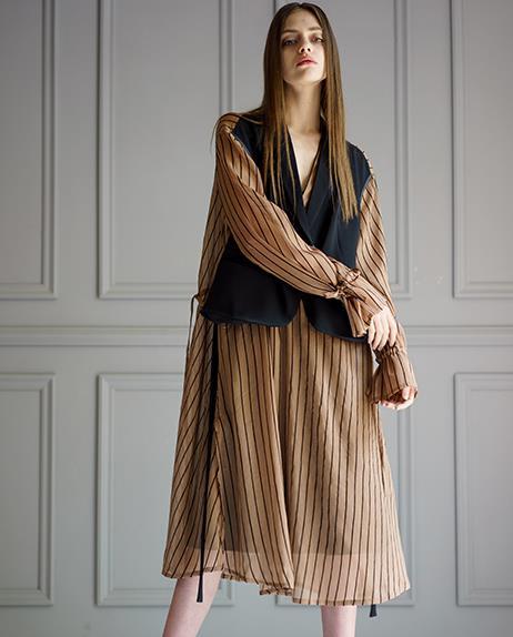 Beflockung tragen Kleidung braun Kleid gef Design zwei lschte Sonnencreme Anzug Original braun 18321 345RAjL