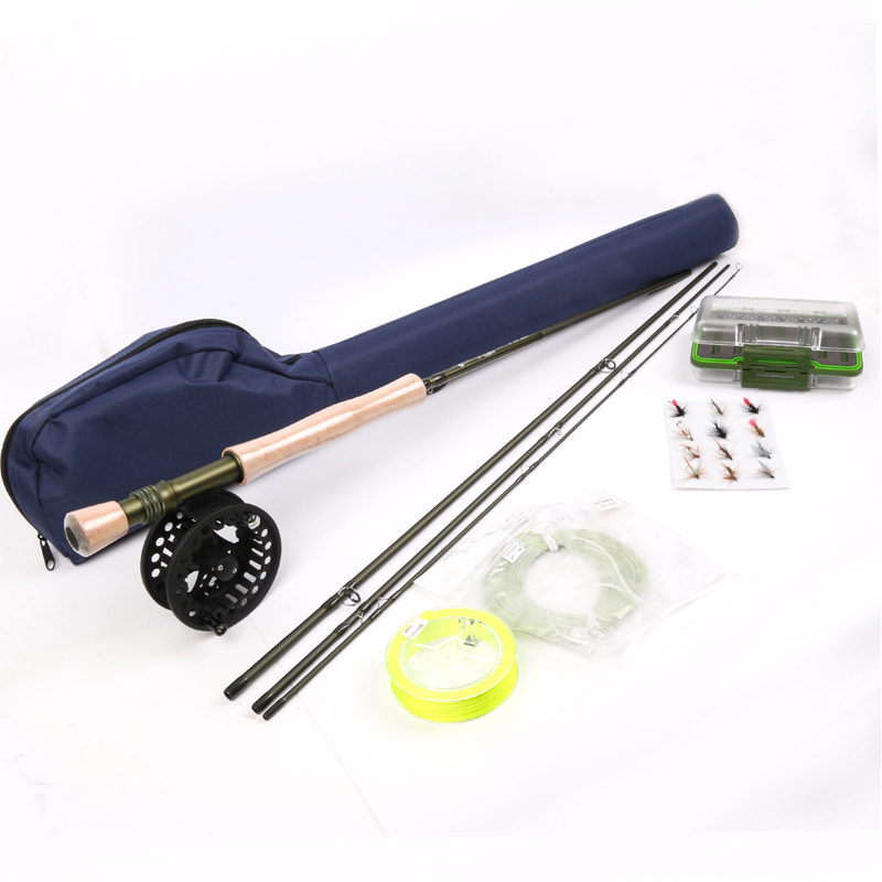 Maximumcatch Fly Rod &Fly Reel Combo 9FT  8WT Fly Fishing Rod  Line Backing Flies  Box Loop Tapered Leader Fishing Outfit
