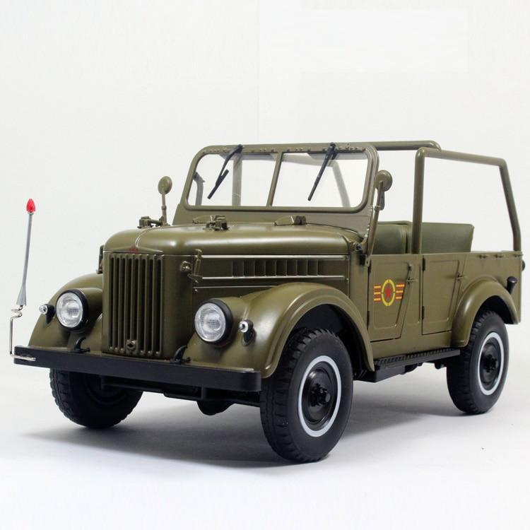 1:18 Diecast Model for GAZ69 U.S.S.R. Soviet Union Convertible ARMY Truck Alloy Toy Miniature Collection USSR GAZ-69 GAZ autoprofi gaz 002